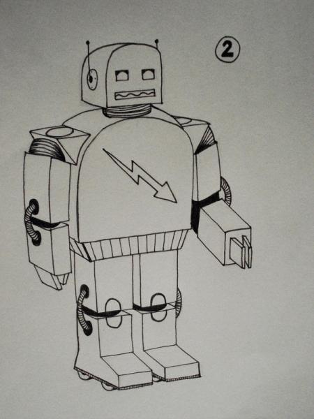 Entwurf Roboteranzug<br>